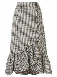 Baum Und Pferdgarten ruffle detail asymmetric skirt - Grey