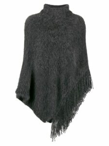 Fabiana Filippi asymmetric knitted poncho - Grey