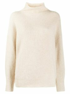 Peserico turtle neck jumper - NEUTRALS