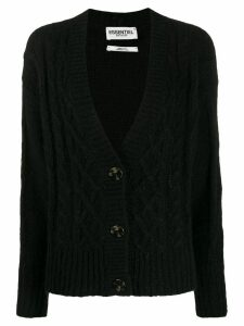 Essentiel Antwerp knitted button cardigan - Black