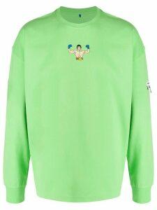 Ader Error boxer print oversized sweatshirt - Green