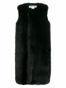 Comme Des Garçons Comme Des Garçons mid-length faux fur gilet - Black