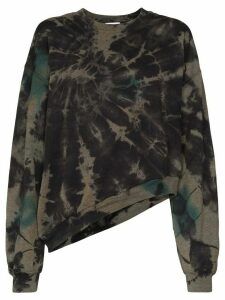 Collina Strada Wave oversized tie-dyed sweatshirt - Black