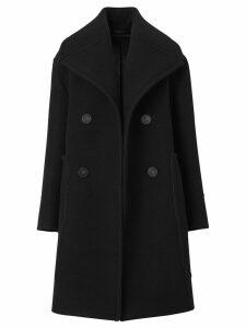 Burberry oversized wool peacoat - Black