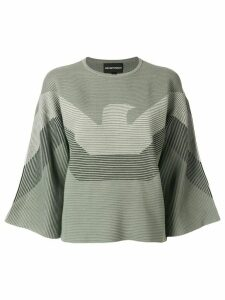 Emporio Armani blended logo sweater - Green