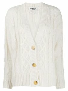 Essentiel Antwerp knitted button cardigan - NEUTRALS