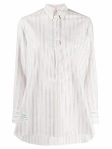 Thom Browne striped swing-style shirt - PINK