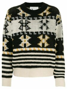 8pm Norwegian-style knitted jumper - NEUTRALS