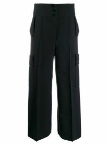 Stella McCartney high-waisted wide-leg trousers - Blue