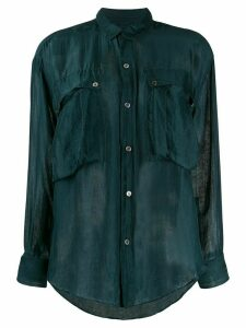 Katharine Hamnett London Alex chiffon shirt - Green