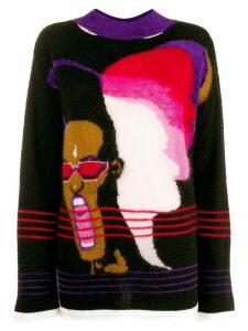 Marco Rambaldi Grace Jones print jumper - Black