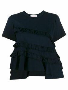 Comme Des Garçons Girl asymmetric ruffle detail T-shirt - Blue