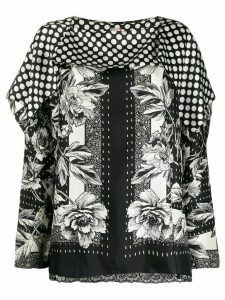 Antonio Marras flower-print silk blouse - Black