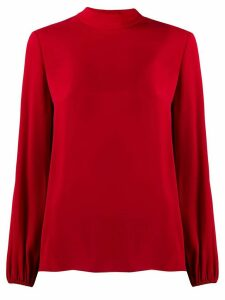 Theory loose-fit silk blouse - Red