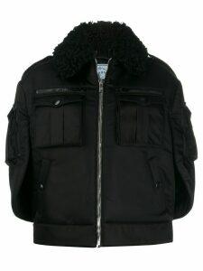 Prada oversized zip-front coat - Black
