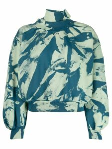 Off-White tie-dye gathered sweatshirt - Blue