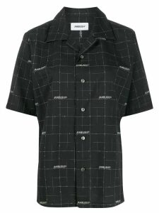 AMBUSH check short sleeve shirt - Black