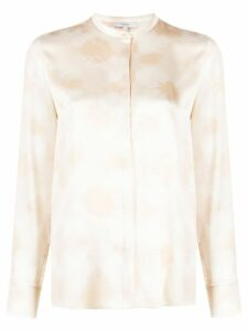 Vince abstract-print silk blouse - Neutrals