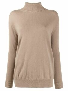 Peserico ribbed roll neck jumper - NEUTRALS