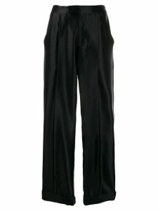 Tom Ford high waisted silk trousers - Black