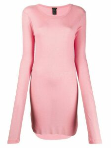 Ann Demeulemeester long stretch fit sweatshirt - Pink