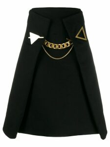 Bottega Veneta A-line chain detail skirt - Black