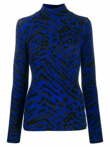 Blumarine Maglia animal pattern jumper - Blue