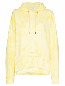 Collina Strada double hem tie-dyed hoodie - Yellow