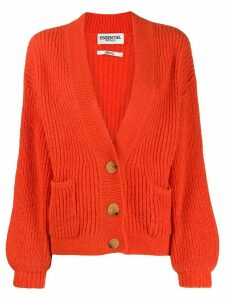 Essentiel Antwerp button-down chunky knit cardigan - ORANGE