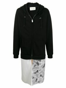 1017 ALYX 9SM contrast long zipped hoodie - Black