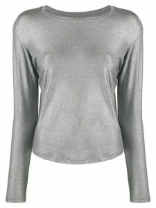 Majestic Filatures glitter-effect long sleeve top - Grey