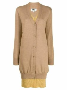 Mm6 Maison Margiela layered cardigan - NEUTRALS