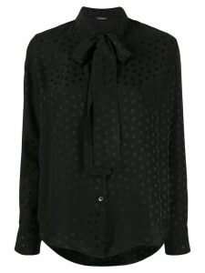 P.A.R.O.S.H. Star pussy bow blouse - Black
