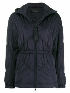 Emporio Armani hooded fitted jacket - Blue