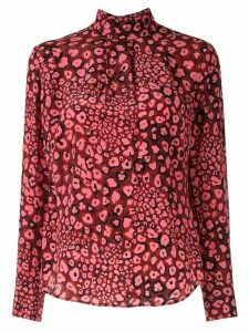 Cefinn dotted silk blouse - PINK