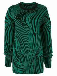 Rokh knitted swirl jumper - Green