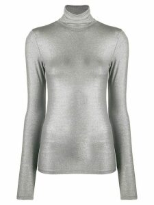 Majestic Filatures turtle-neck fitted top - Grey