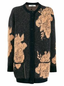 Roberto Collina floral embroidered cardigan - Blue