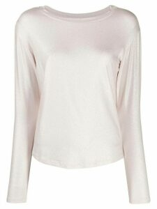 Majestic Filatures long-sleeve fitted top - PINK