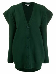 Stella McCartney structured shoulder cardigan - Green