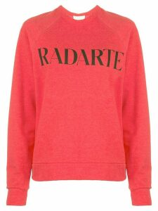 Rodarte printed logo sweater - Red