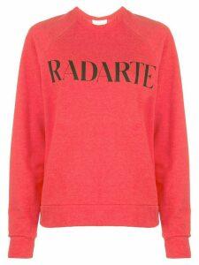 Rodarte printed logo sweater - Red