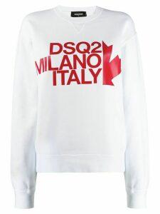 Dsquared2 logo print crewneck sweatshirt - White