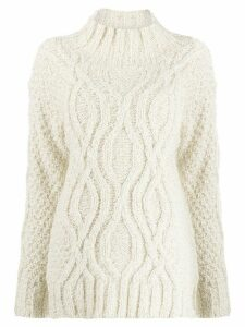 Snobby Sheep cable knit jumper - NEUTRALS