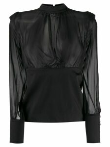 Federica Tosi ruched detail blouse - Black