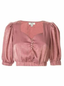 We Are Kindred Frenchie crepe de chine cropped top - PINK
