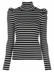 Veronica Beard Cedar striped turtleneck top - Black
