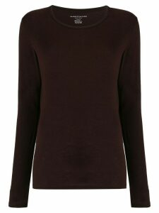 Majestic Filatures scoop neck knitted top - Brown