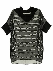 Taylor Continue cut-out sheer top - Black