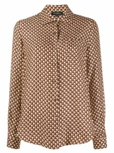 Antonelli geometric-print shirt - Brown